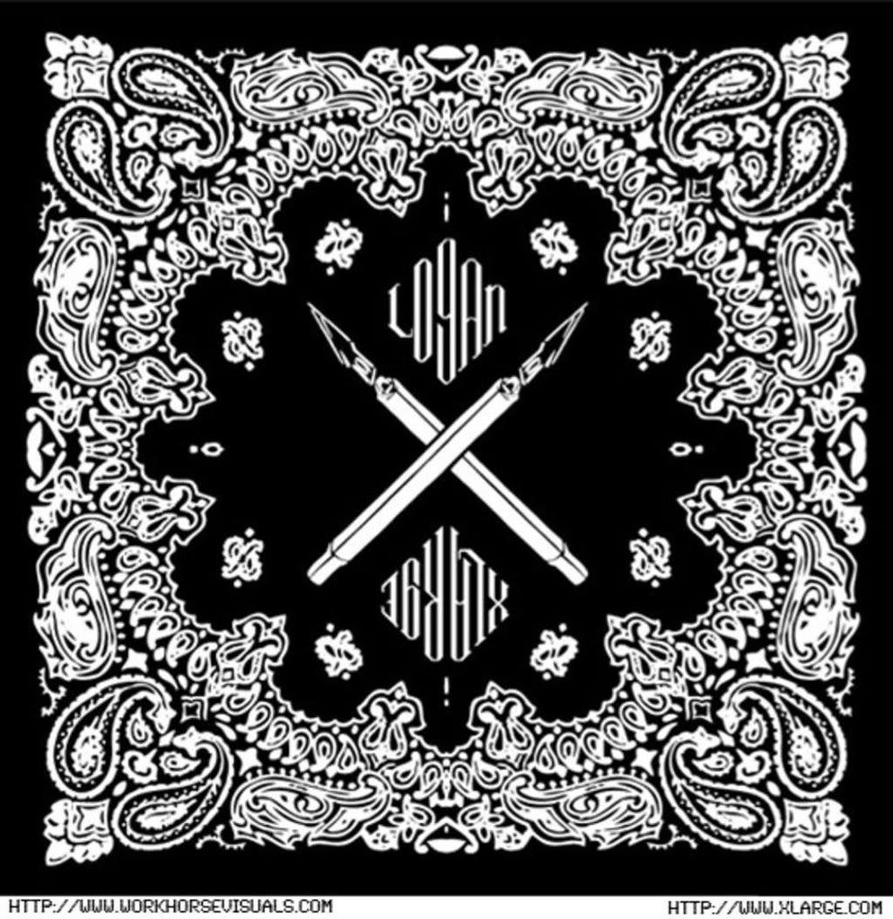 White Bandana Background Black bandana white | Design ...