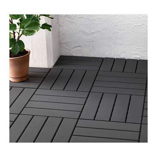 Runnen decking outdoor dark gray tarimas oscuro y gris for Tarima exterior ikea