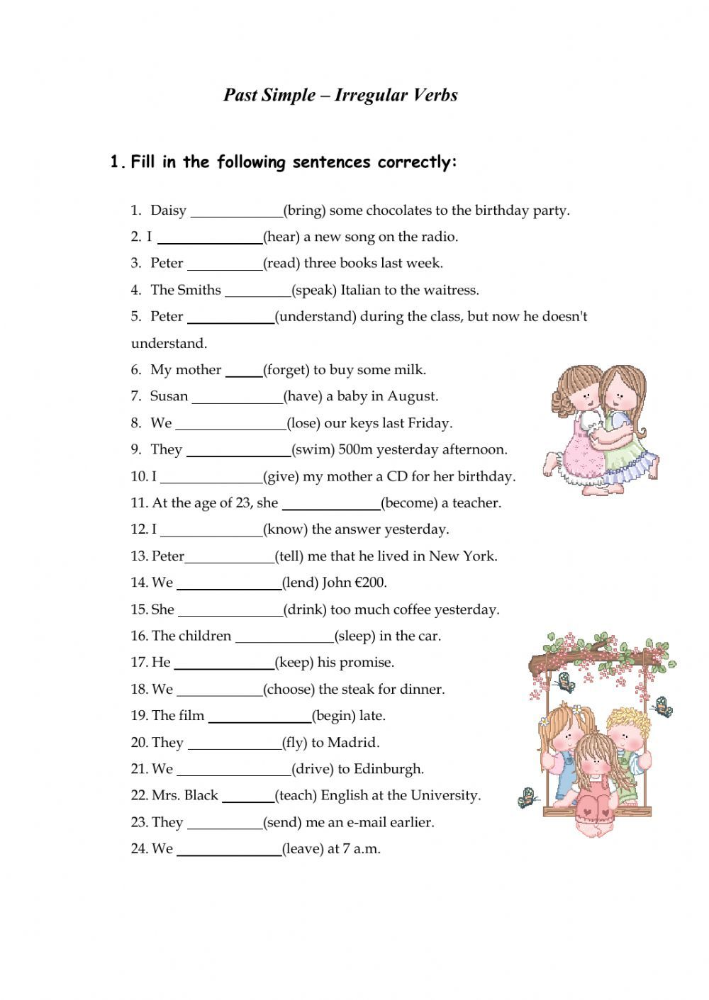 Irregular Verbs Interactive And Downloadable Worksheet Check Your Answers Online Or Send Them To Pasado Simple Ingles Ejercicios De Ingles Ensenanza De Ingles [ 1411 x 1000 Pixel ]