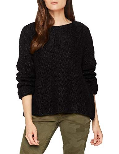 United Colors of Benetton Damen Pullover Sweater LS Schwarz