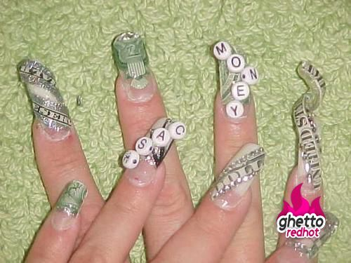 These Nails Are Priceless Ghetto Nails Ghetto Nail Designs