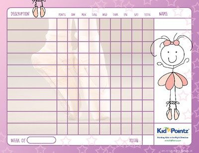 Free Printable Charts {Kid Pointz} School Kids Homework Free