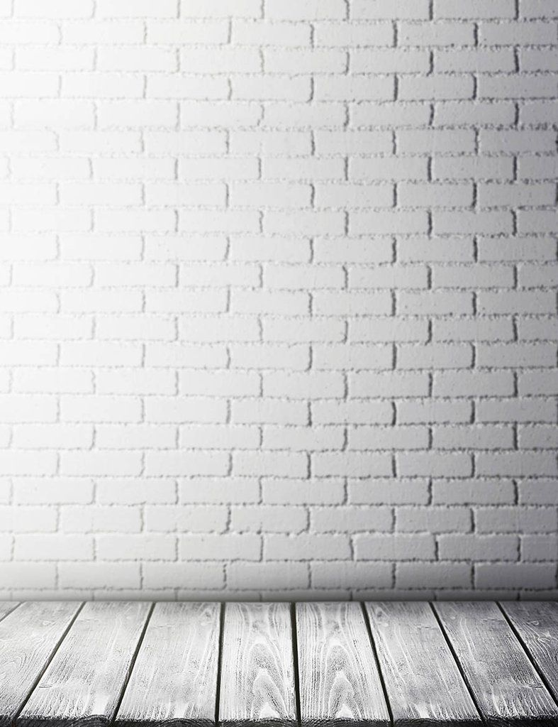Patterns White Stucco Brick Wall And Wood Floor Backdrop For Photo Brick Wall Backdrop Brick Wall Wood Floors