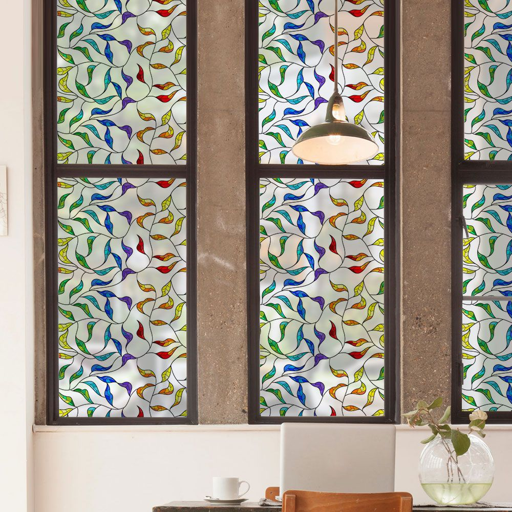 Stained Glass Window Cling Film.2019 的 Decorative Window Film Privacy Window Film