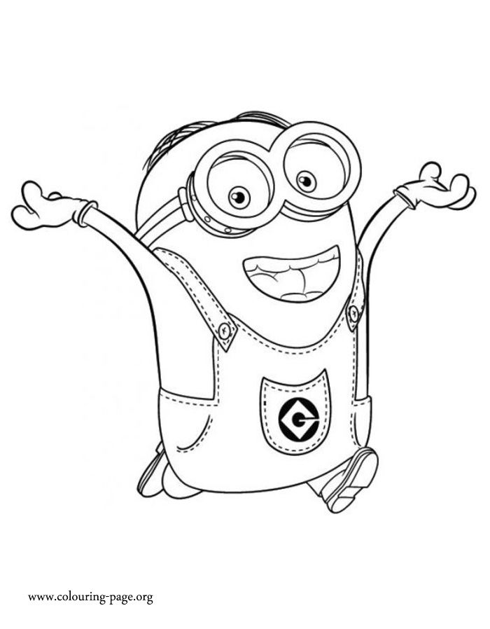 Dave is an intelligent and funny minion. Have fun coloring this free ...