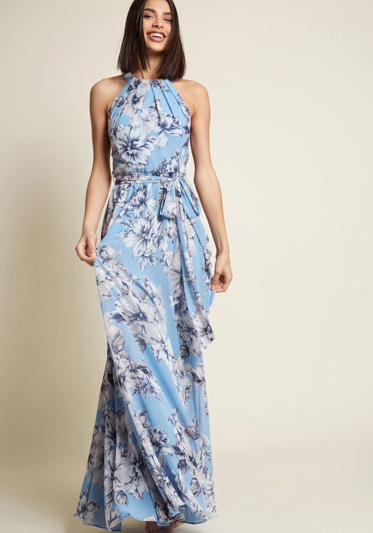 Eliza j everflowing elegance maxi dress in garden in u prom