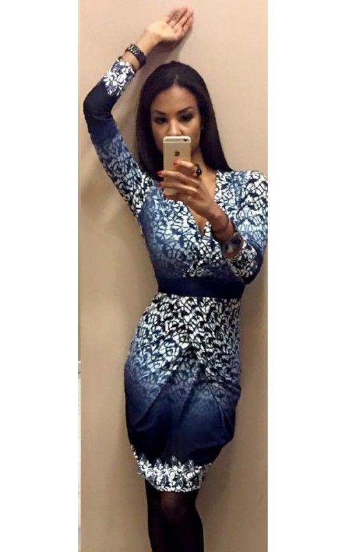 616f58d684 Envy kék-fehér mintás hagymaszoknyás ruha | envy fashion | Fashion ...