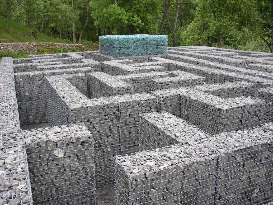 Gaviones decorativos garden center ejea arquitectura for Gaviones de piedra