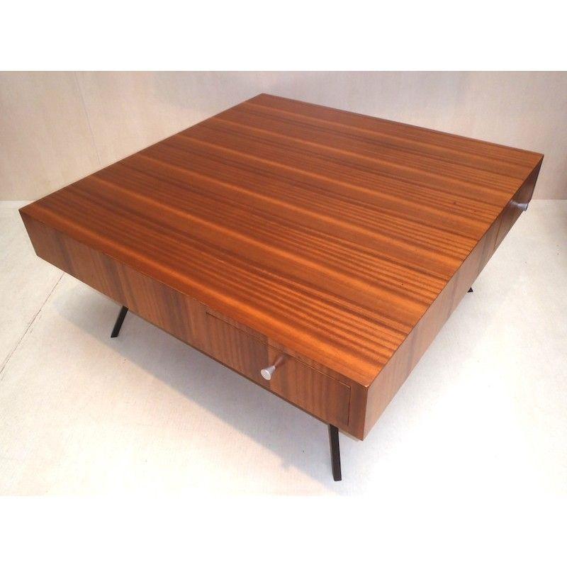 Table Basse Vintage Jacques Dumond Annees 60 Design Market French Design Market Design Table