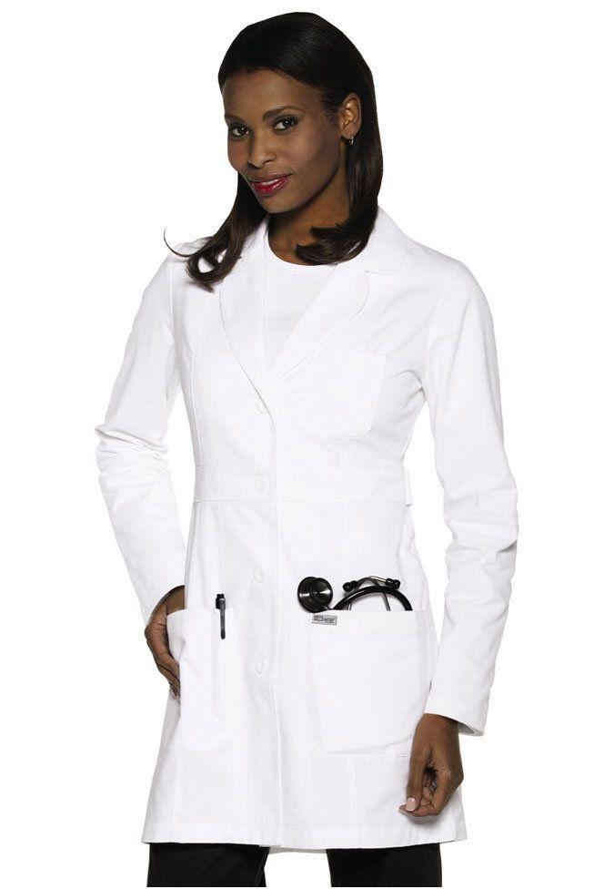 Greys Anatomy princess cut ladies consultation length lab coat ...