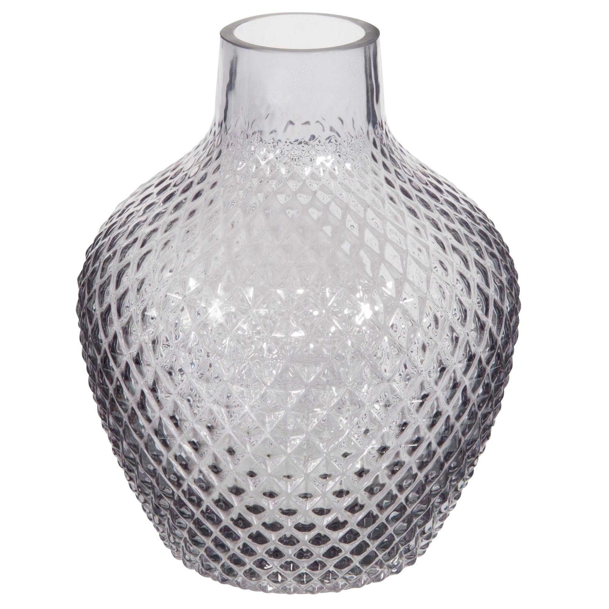 Vase en verre teinté gris H.20cm ELEGANCE   Classique Chic ...