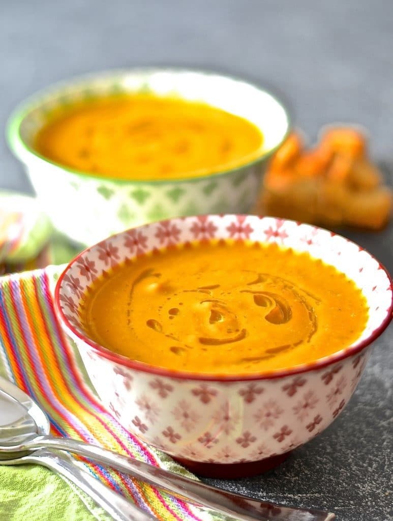 creamy vegan carrot soup  recipe with images  food carrot ginger soup wisdom teeth removal