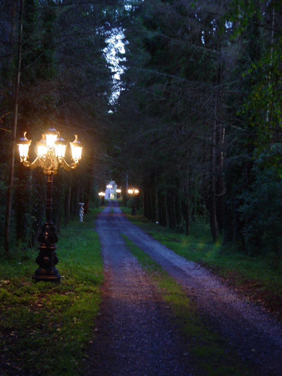 "Outdoor Driveway Lighting: Portlick Castle, Ireland. ""The Long Driveway At Dusk"