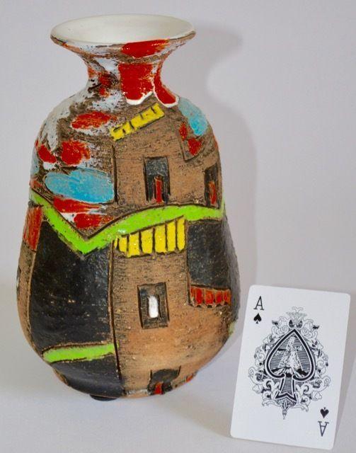'Alla Moda' FRATELLI FANCIULLACCI ART POTTERY CERAMIC VASE ITALY MID CENTURY 50s | eBay