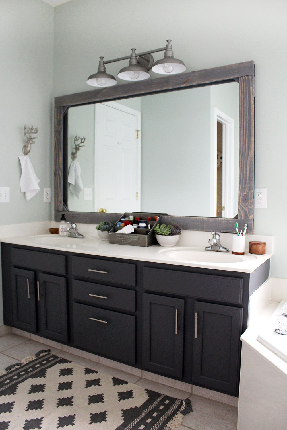 Master Bathroom Update On A 300 Budget Tag Tibby Design Bathroom Mirror Design Bathroom Remodel Master Master Bathroom Update