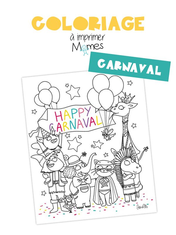 Coloriage Carnaval Momes.Vive Le Carnaval Carnaval Coloriage Carnaval