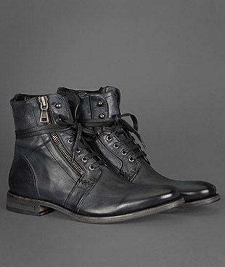 John Varvatos Ago Side Zip Boot in Black for Men - Lyst