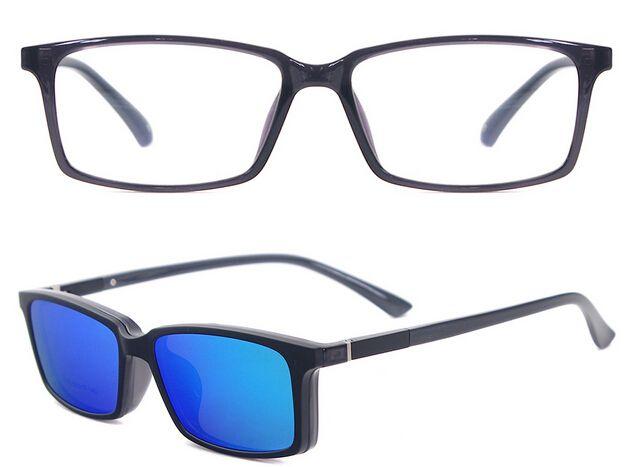 45b821f246 Polarized Prescription Sunglasses TR90 Optical Frames Men Glasses Frames  Branded Magnetic Clip On Sunglasses