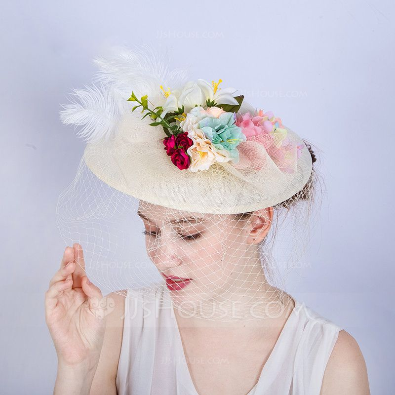 43299f35f1f Ladies  Gorgeous Fashion Glamourous Cambric With Feather Fascinators  (196169624) - Hats