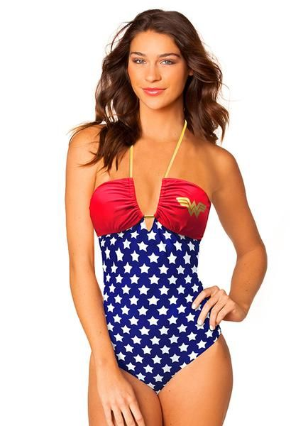 Dédouanement Livraison Rapide DC Comic Sexy Wonder Woman Convertible Bandeau One Piece Geniue Stockiste Vente En Ligne dojiNDxl