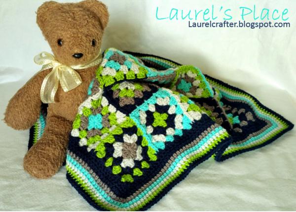 Crochet patrón manta | Granny Square Diagram- Bavarian - CROCHET ...
