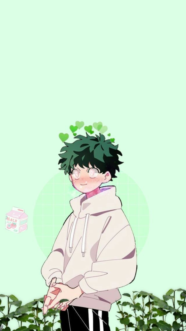 freetoedit nature green cute midoriya deku image by