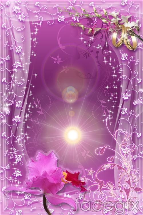 fantasy purple flower psd for Free Download   Free PSD