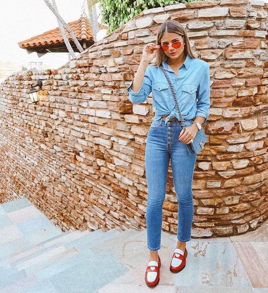 7418ec7dd @thassianaves Linda Veste look todo #NYBD disponível no site, shop.nybd.com.br  ✅ #notyourbasicdenim #jeans #denim