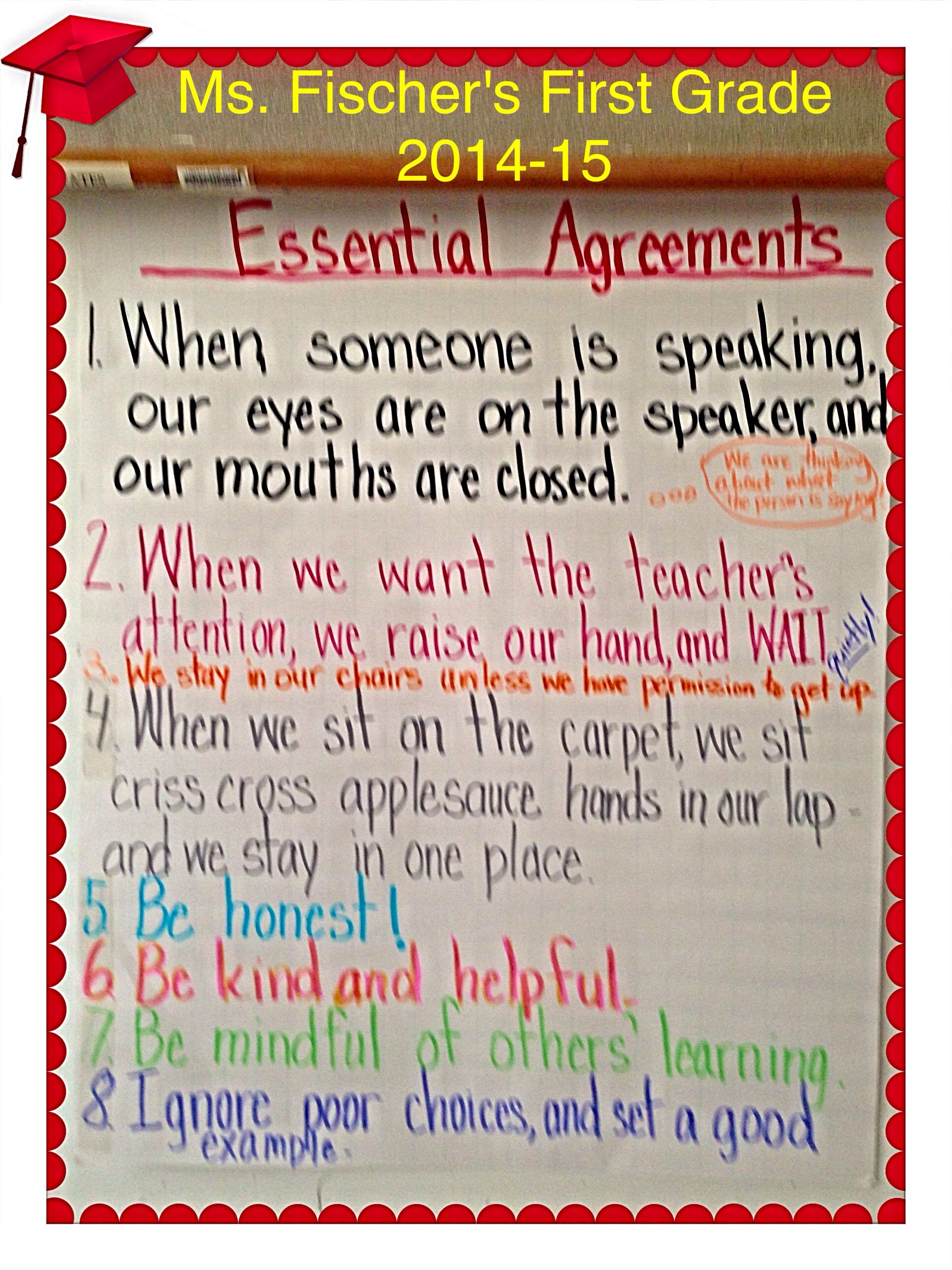Essential Agreements 14 15