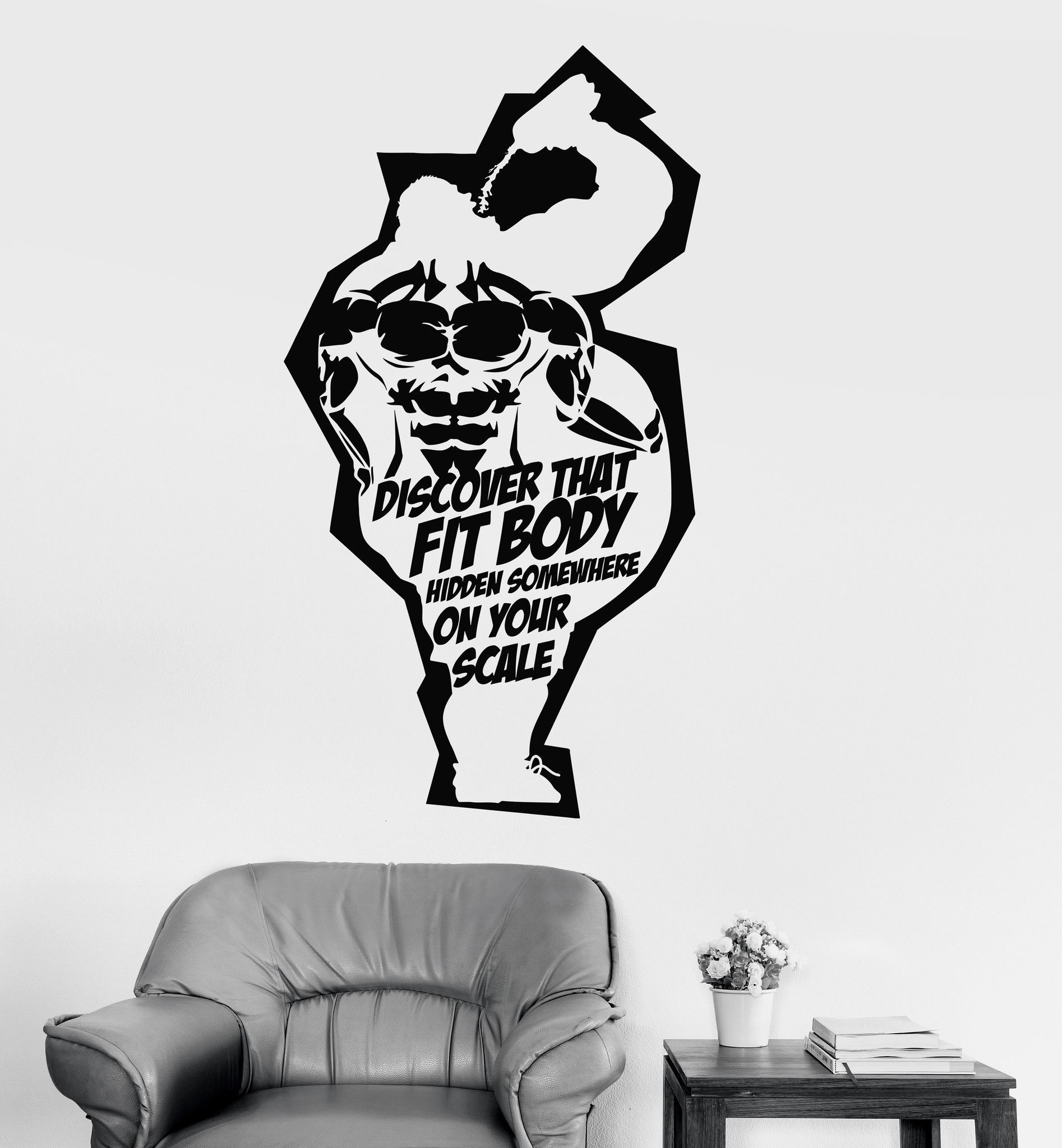 vinyl wall decal fitness club motivation quote muscle gym stickers vinyl wall decal fitness club motivation quote muscle gym stickers ig3944