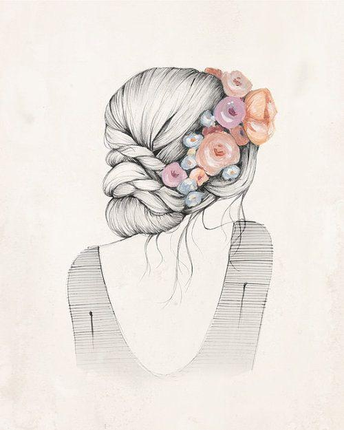 Cute Girl Drawing ️ | Faiths drawings | Pinterest ...
