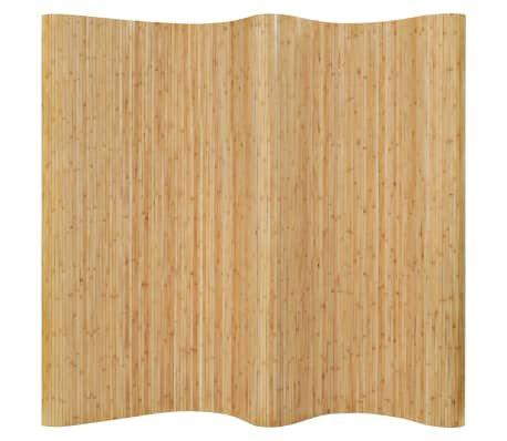vidaXL rumdeler bambus 250 x 195 cm naturfarvet Rumdeler