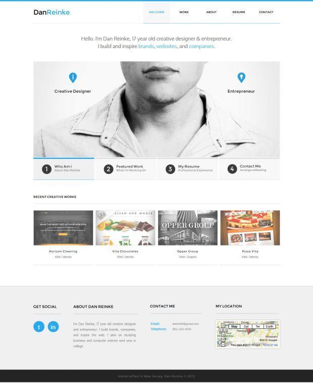 Dan Reinke Creative Designer And Entrepreneur Best Website Web Design Inspiration Showcase Www Nic Web Design Websites Web Design Best Web Design