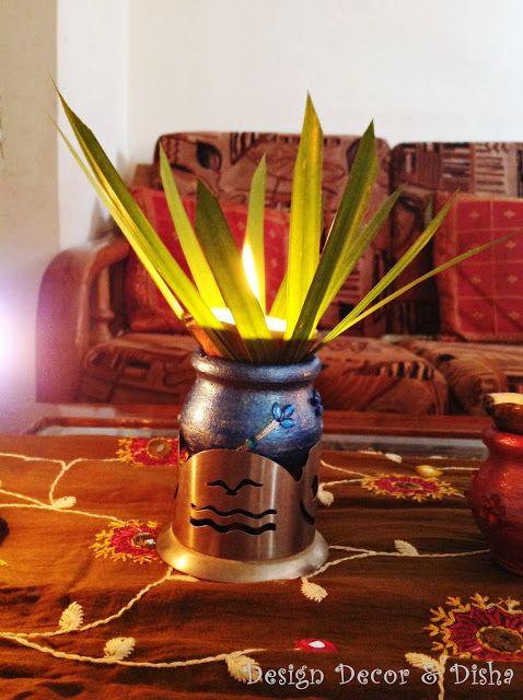Unique way to decorate diya on center table diwali for Interior decoration ideas for diwali