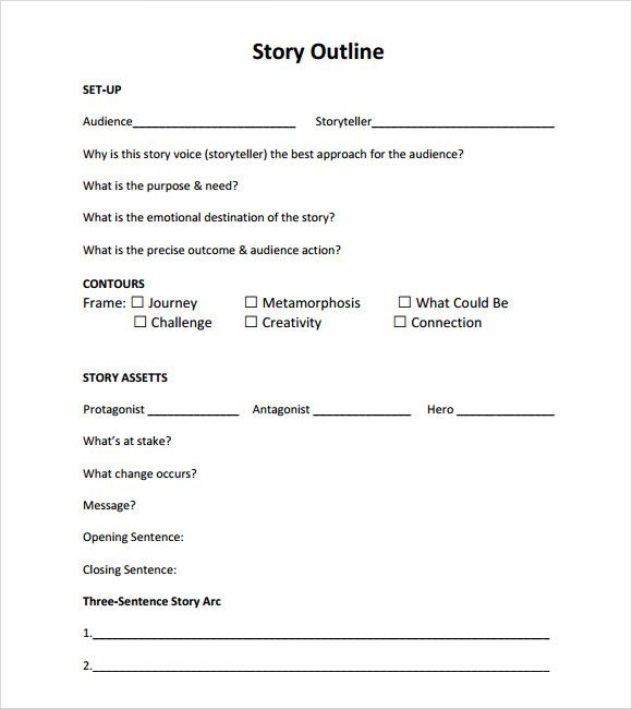 Story Outline Template PDF | Ideas | Story outline template