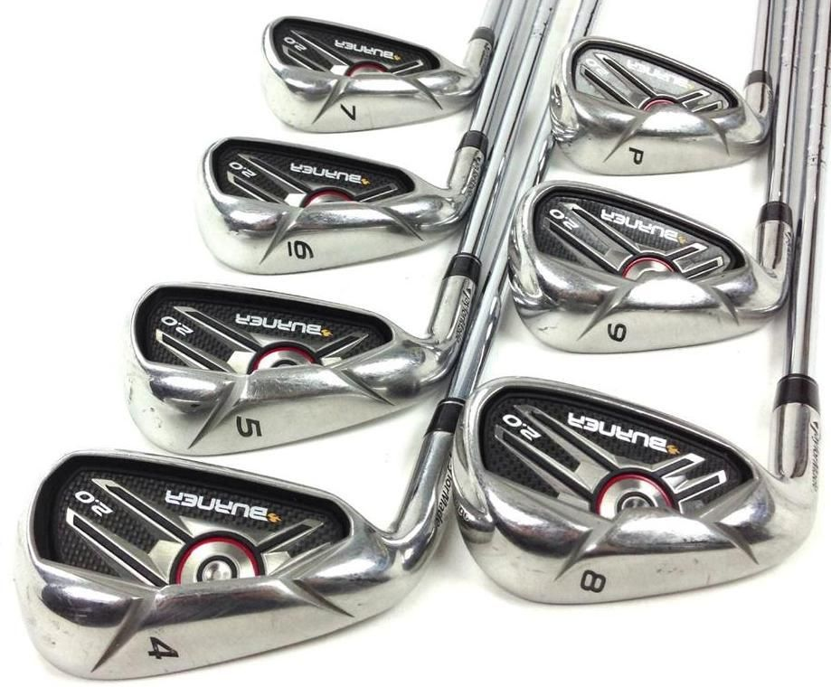 TaylorMade Burner 2 0 HP LEFT HAND Iron set 4-PW (7pc) Steel
