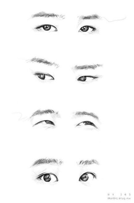 56 Trendy Eye Sketch Korean Eye Drawing Tutorials Nose Drawing Exo Eyes Drawing