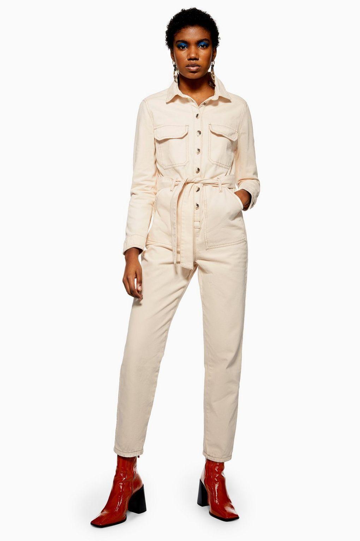 25bc145f8ec Cream Denim Boiler Suit - Everyday Utility - Clothing in 2019 ...