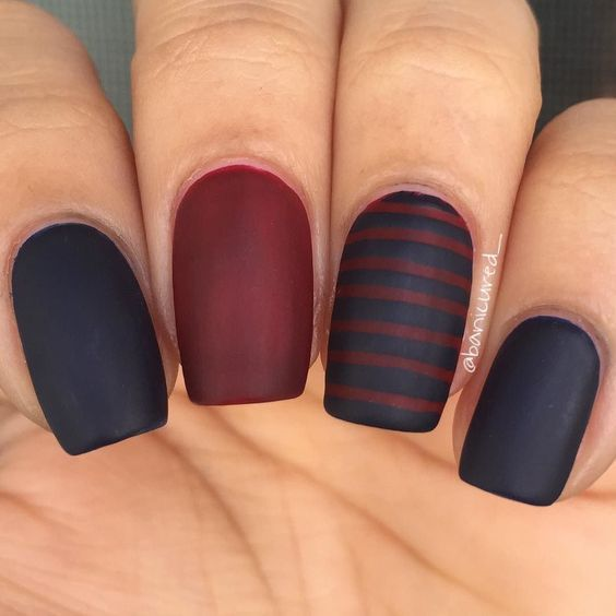 50 Matte Nail Polish Ideas | Grey matte nails, Matte nail polish and ...
