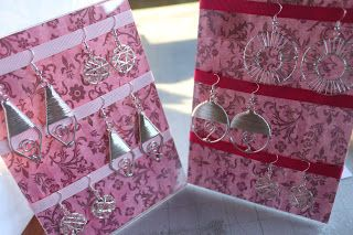 delicateCONSTRUCTION: Earring Display for Craft Fair!