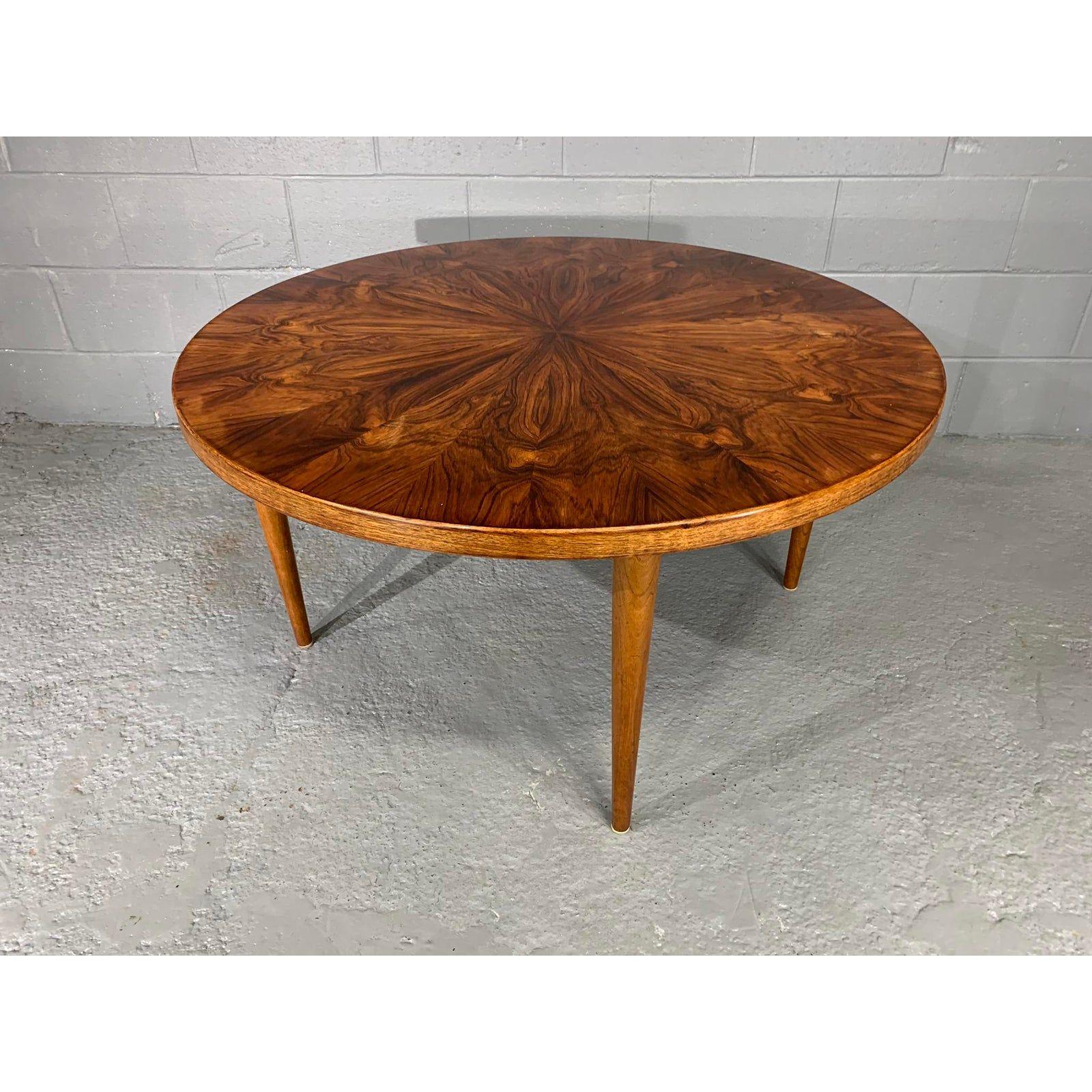 Danish Modern Figured Grain Rosewood Round Coffee Table By Edvard Valentinsen Chairish Coffee Table Danish Modern Table Round Coffee Table [ 1600 x 1600 Pixel ]