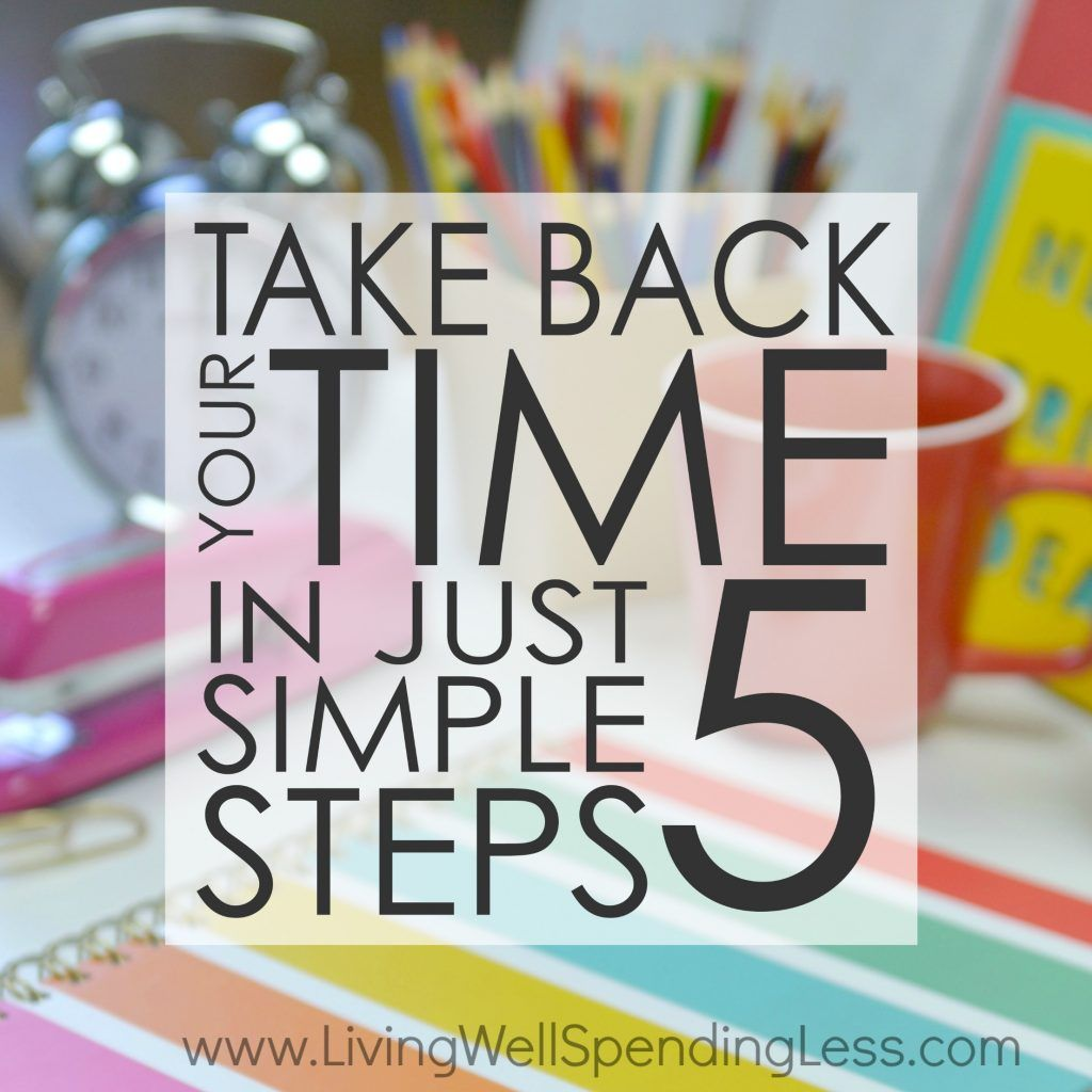 how to take control of your time