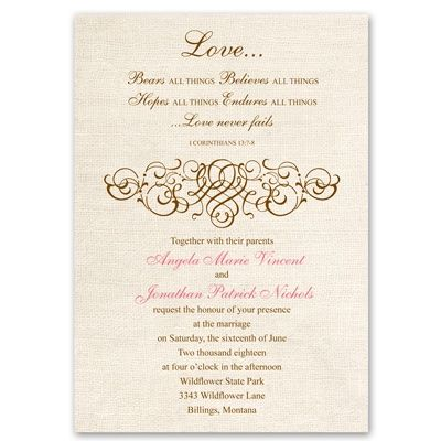 Rustic Love - Invitation Rsvp, Wedding and Weddings - new sample letter invitation religious event