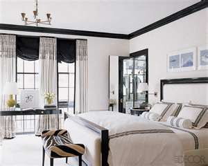 Black White Vintage Bedroom Design Ideas   Interior Design   Using Black  And White As A Bedroom Color Scheme Is Both Audacious And Practical.