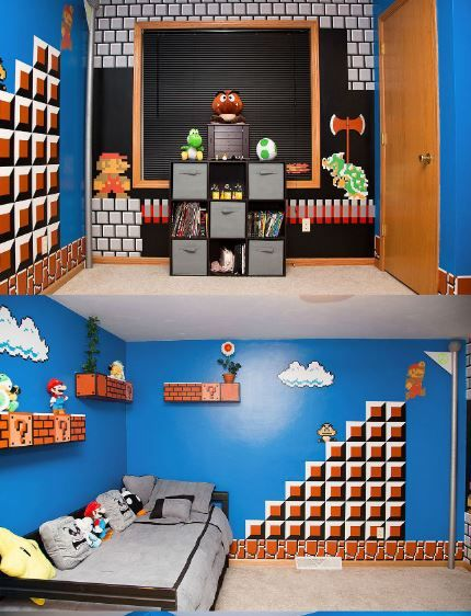 Mario Bros Bedroom Ideas Mario Room Nintendo Room Super Mario Room