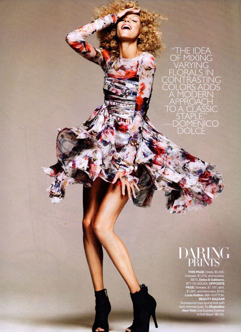 Model Anja Rubik, photographer Greg Kadel for Harper's Bazaar, US, January 2010