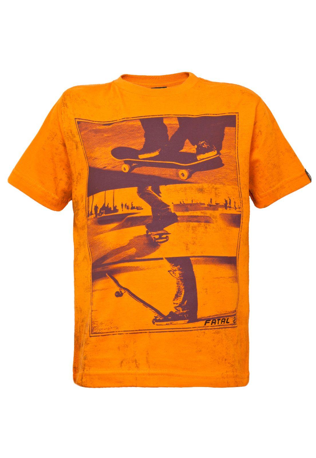 5f75cb4be Camiseta Infantil Fatal Skate Laranja - Compre Agora | Dafiti Brasil
