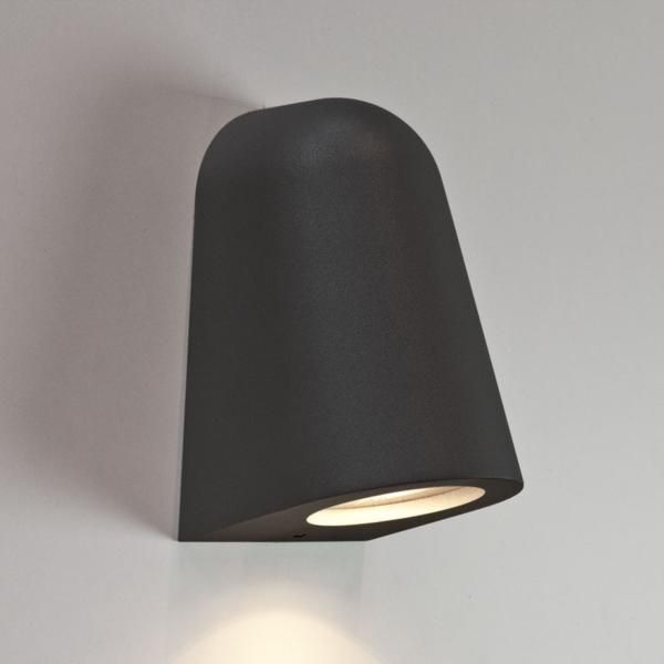 Bathroom Wall Light Fixtures Uk mast black surf wall light ip65 rated 35w gu10 for outdoor wall