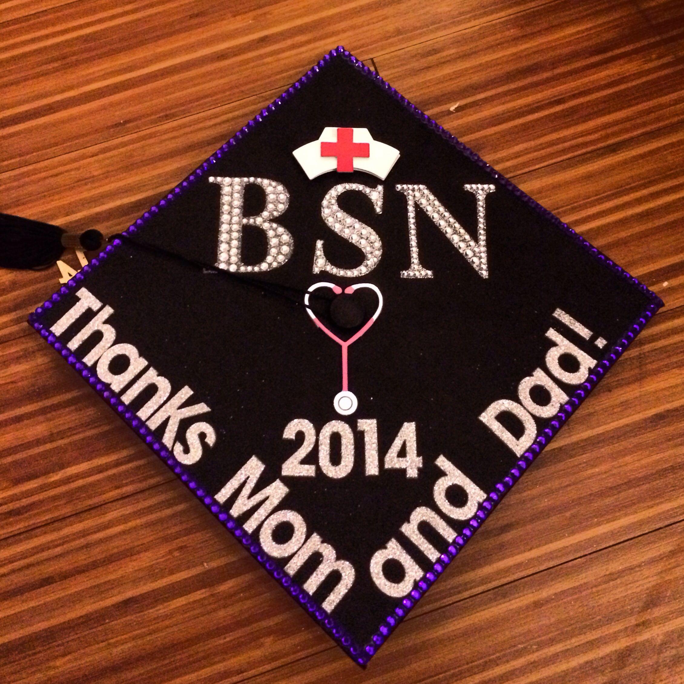 Nursing School Graduation Cap. BSN