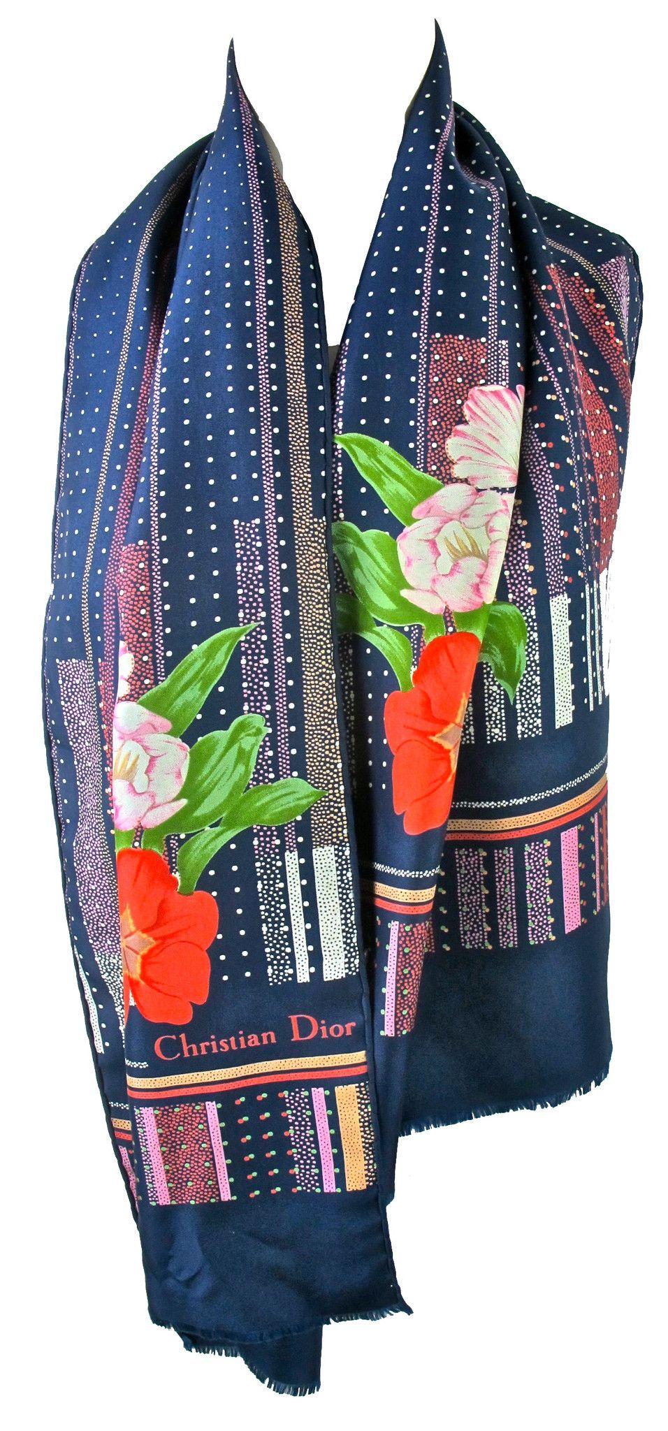 922ef399acf6 I found this Vintage Christian Dior Silk Scarf on www.peekaboovintage.com